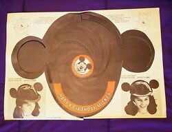 1960s Vintage Disneyland Mickey Mouse Ears Disney Parks Mickey Mouse Club Paper