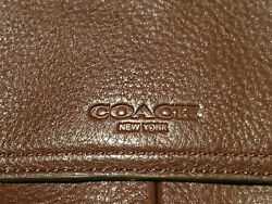New COACH Mens Crosby Leather Briefcase 70480 Messenger Work Bag Brown NWT $499.93