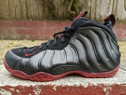 Ds Nike Air Foamposite One Cough Drop Sz 9.5 Black Red Penny Uptempo Presto
