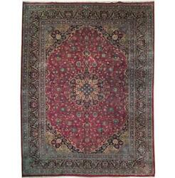 Fascinating 10x13 Authentic Hand Knotted Semi-antique Rug B-71088
