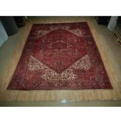 10x13 Authentic Hand Knotted Semi-antique Wool Rug Red B-73158
