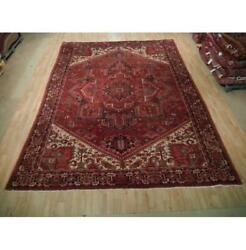 10x13 Authentic Hand Knotted Semi-antique Rug B-73195