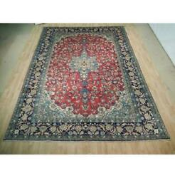 10x13 Authentic Hand Knotted Semi-antique Wool Rug Red B-72896