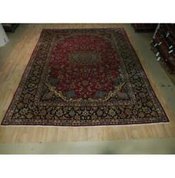 10x13 Authentic Hand Knotted Semi-antique Wool Rug Red B-73518
