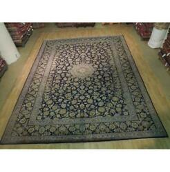 10x13 Authentic Hand Knotted Semi-antique Wool Rug Black B-74413