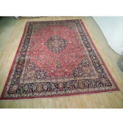 10x13 Authentic Hand Knotted Semi-antique Wool Rug Red B-73046