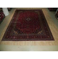 10x13 Authentic Hand Knotted Semi-antique Wool Rug Red B-73555