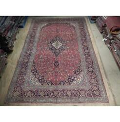 10x15 Authentic Hand Knotted Semi-antique Wool Rug Red B-74534