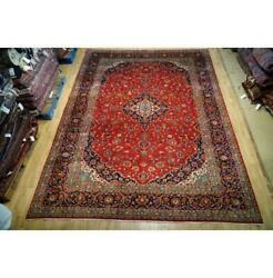 10x14 Authentic Hand Knotted Fine Quality Wool Rug Red B-74627