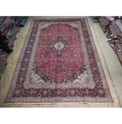 10x14 Authentic Hand Knotted Fine Quality Wool Rug Red B-74526