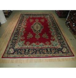 10x15 Authentic Hand Knotted Semi-antique Wool Rug Red B-73559