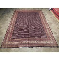 7x10 Authentic Hand Knotted Semi-antique Mir Rug B-73916