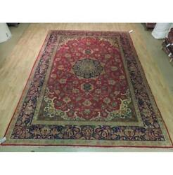 8x12 Authentic Hand Knotted Semi-antique Rug B-73825