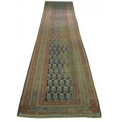 Pristine 4x15 Authentic Hand-knotted Antique Runner Rug Pix-25807