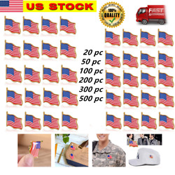 Lot Of 20-500 American Flag Lapel Pins United States Usa Hat Tie Tack Badge Pin