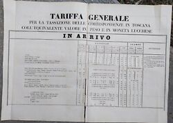1847 Exceptional Bando With The Tariff House Poste Of The Grand Duchy Of Tuscany