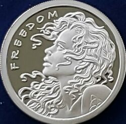 1 Oz .999 Pure Silver Proof Freedom Girl Free Reign Original Sbss Round Coin Coa