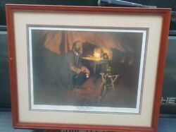 Framed Signed William Maughan The Prayer Warrior Stonewall Jackson 231/1500