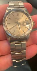 Rolex Womens Datejust 6516 2 Tone 26mm Blue Dial Jubilee Band Oyster Perpetual