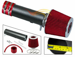 Red Rw Racing Air Intake Kit+filter For 04-06 Mdx/05-06 Odyssey/06-08 Pilot V6