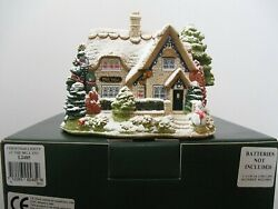 Lilliput Lane Snow L2485 Christmas Lights At The Bell Inn Mib With Deed.