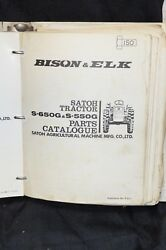 Satoh Bison And Elk Technical Service Parts Catalog Manual S630 S650 S550 Tractor