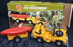 Kenner The Pathfinder Jeep Trailer Boat And Steve Scout Toy Set Boy Scouts Vintage