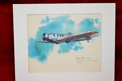 Nixon Galloway Boeing 221a - Monomail 1930 Print 1973 United Airlines Series