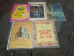 Cinema,old Movie Programs,50s, 60s.ben Hurr,cleopatra,can Can,guns Of Navarone