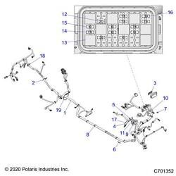 Polaris Electric Power Steering Eps Chassis Harness Rzr