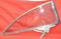 1960 1961 Ford Starliner Quarter Window Frame And Glass 1/4 Panel Trim Right Pass
