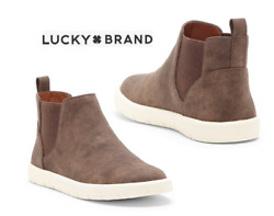 Lucky Brand Little Girls Brown Benton Chelsea Boot Ankle Booties NEW Boxed Sz 2 $29.75