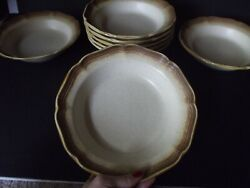8 Soup Salad Cereal Bowls 8-1/4, Mikasa Whole Wheat E8000 Brown Stoneware Oven