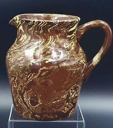 Pitcher Agateware / Scoddled Brown And Cream Kensington Pkb England