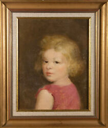 Georges Rogy 1897-1981 - Mid 20th Century Oil, Portrait Of A Blond Girl