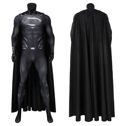 Superman Costume Cosplay Suit Clark Kent Justice League Black Ver 3D Printed New