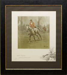 """""""merry England And Worth A Guinea A Minute"""" Signed By Snaffles, Antique Print"""