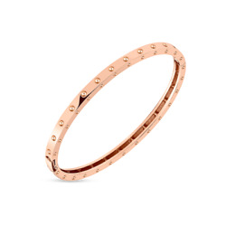 Roberto Coin 18k Rose Gold Pois Moi Oval Bangle New And Authentic