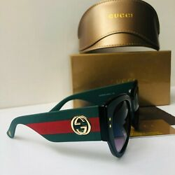 Unisex Gucci Sunglasses Green Red Frame GG54 21 145 $46.00