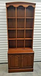 Ethan Allen Vintage Sheffield Commode Cabinet And Library Bookstack 11-9004/5