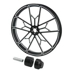Cnc Front Wheel Rim Wheel Hub For 30x3.5and039and039 Harley Road King 08-20 Single Disc