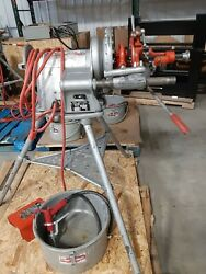 Ridgid 300 Threading Machine With Attachments Clam Shells And Oiler Can