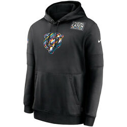 New 2020 Chicago Bears Nike Crucial Catch Sideline Performance Pullover Hoodie