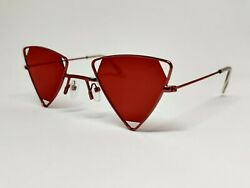 Men Fashion Sunglasses Party GLASSES Sports Luxury OUTDOOR Triangle Red Lenses $11.99