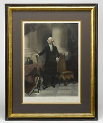 Antique George Washington After P. F. Rothermel Engraved By A. H. Ritchie Pu