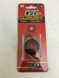 2 Two New Optronics Led Light Kit Red Mcl12rk 3/4 Mini Sealed Marker Clearance