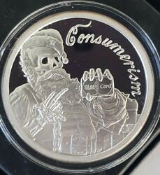 2 Oz .999 Pure Silver Shield Proof Consumerism Members Round Coin Christmas Coa