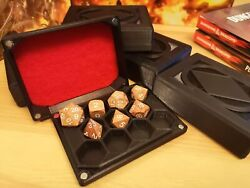 Compact Dice Box Holds 11 Polyhedral Dice. 3d Printed And Hand Finished. Dnd
