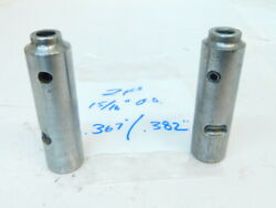 Used 2pcs. Magic Chuck Endmill Holders .367 And .382