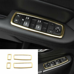 Fit For Jeep Cherokee 2014-2020 Abs Gold Glass Window Lifting Frame Decoration